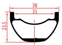 31mm internal width enduro bike rim